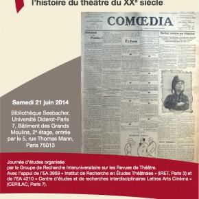 Comoedia (1907-1937). Un continent inexploré dans l'histoire du théâtre du XXe siècle
