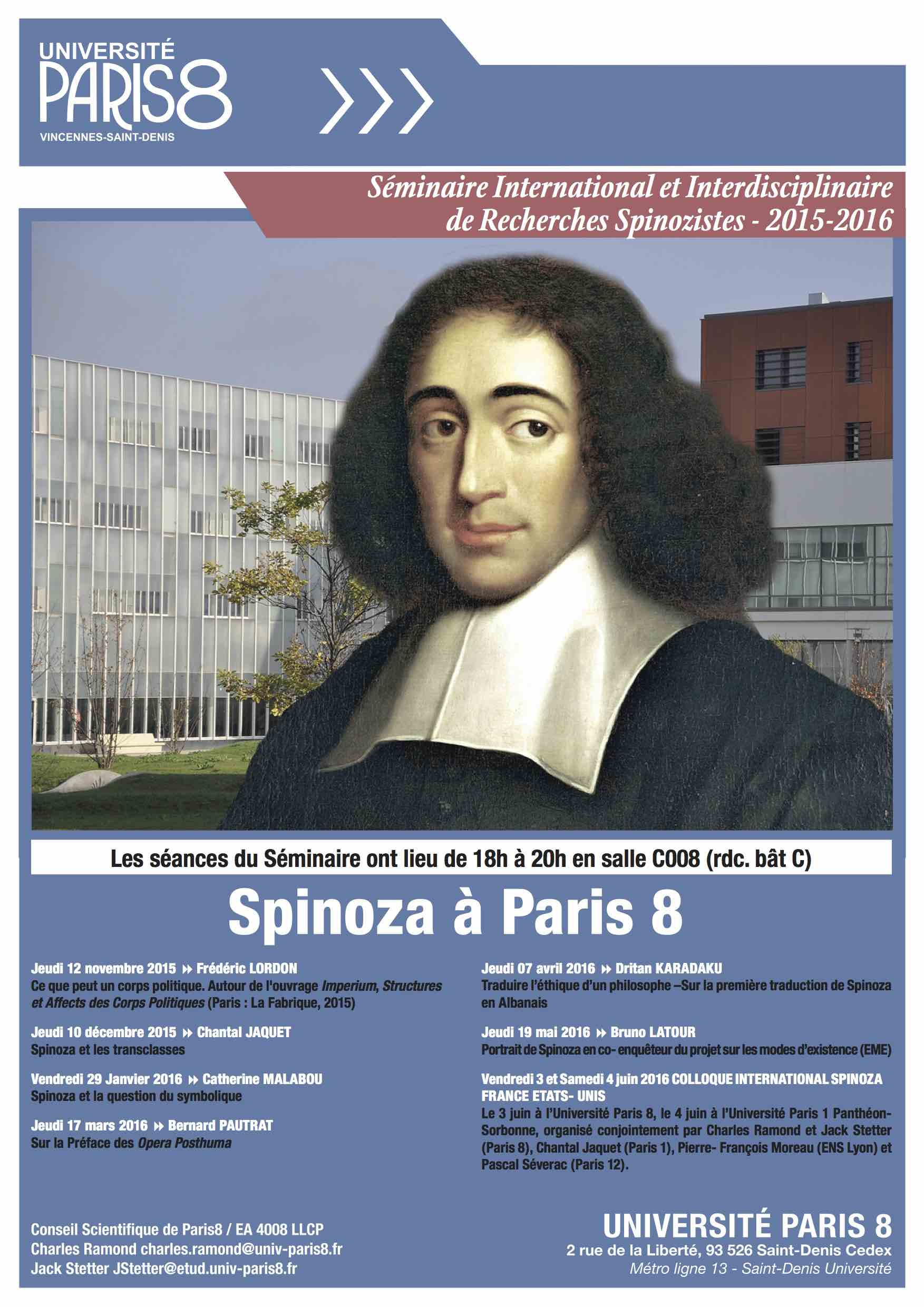 Spinoza à Paris 8