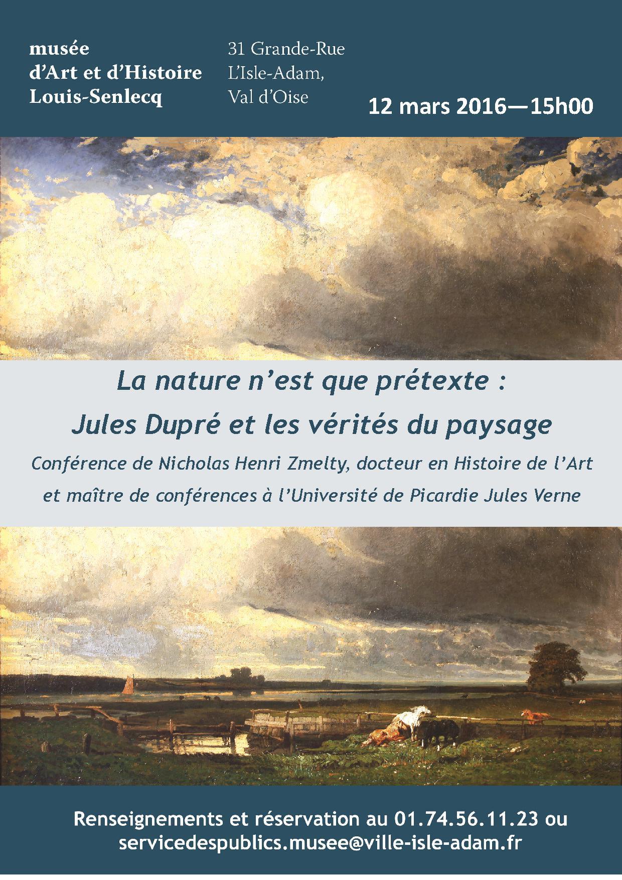 La nature n'est que prétexte. Jules Dupré et les vérités du paysage.