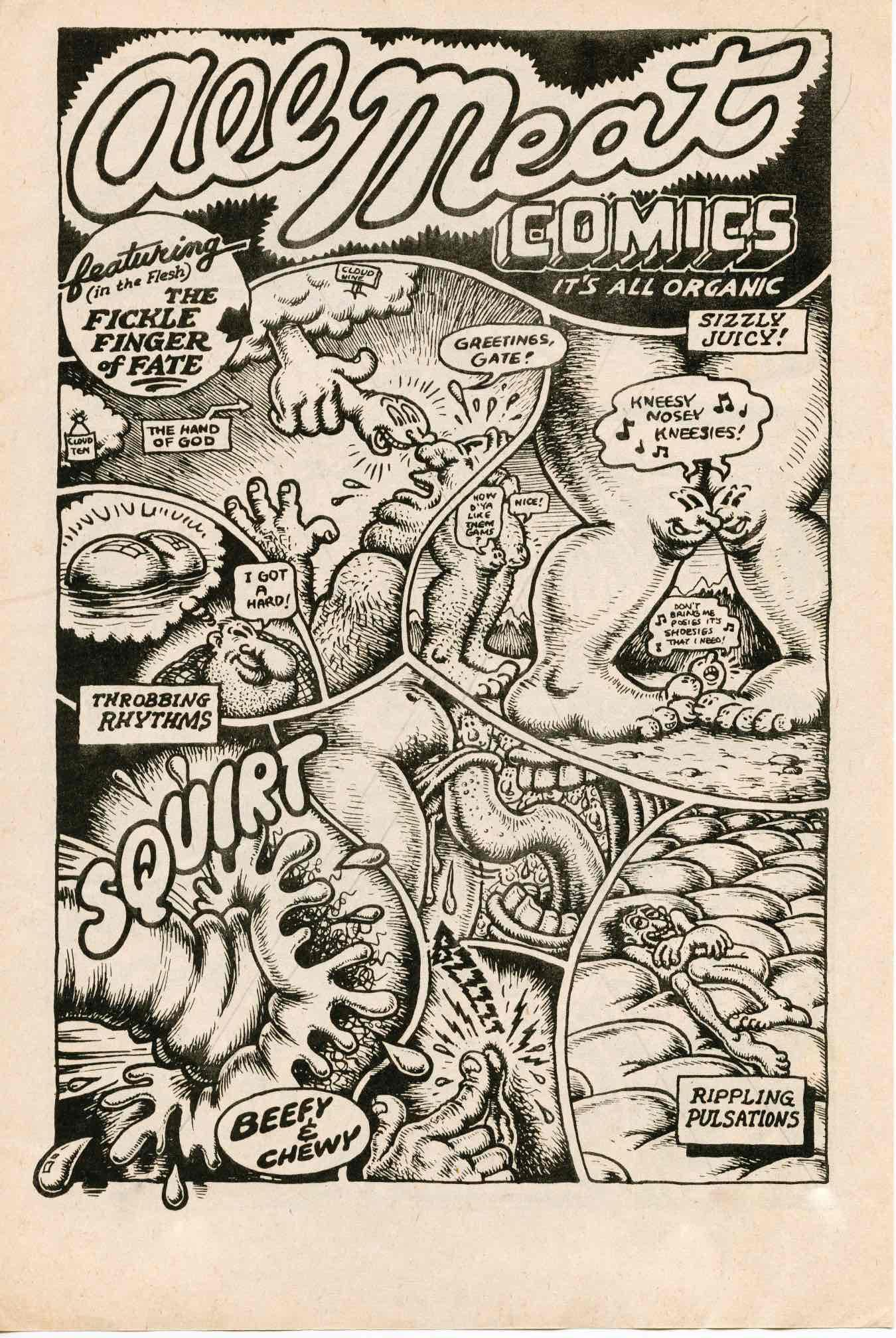 """Les Formes grotesques et """"sexuelles"""" du mou dans la bande dessinée expérimentale de Robert Crumb"""