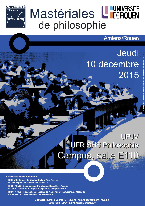 Mastériales de Philosophie Amiens-Rouen