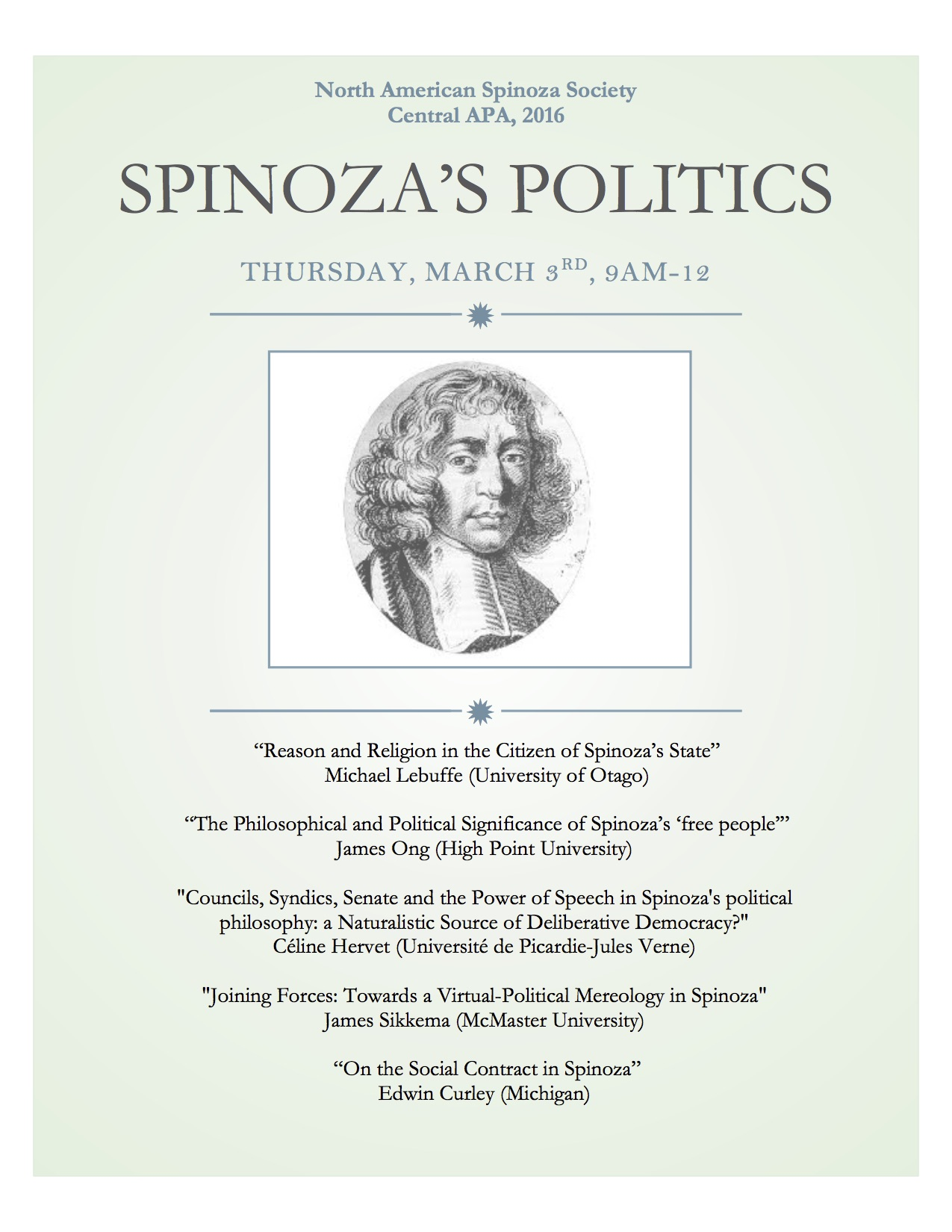 SPINOZA'S POLITICS