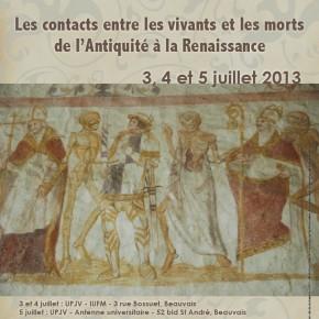 Colloque : Les contacts entre les vivants et les morts de l'Antiquité à la Renaissance