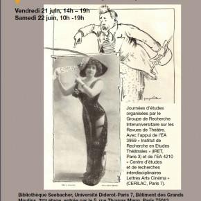 Journée d'études :  L'image dans les revues de théâtre: formes, statut, fonctions