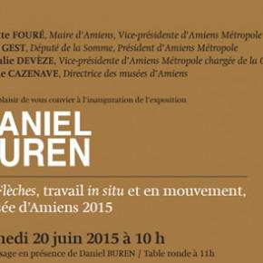 Daniel BUREN - Les Flèches, travail in situ et en mouvement, Musée d'Amiens 2015