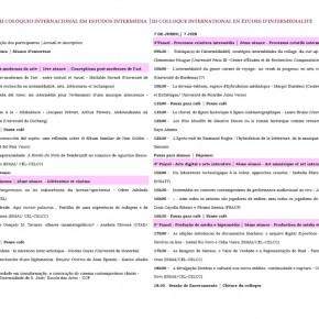III Colloque International en Études d'Intermédialité de l'ISMAI