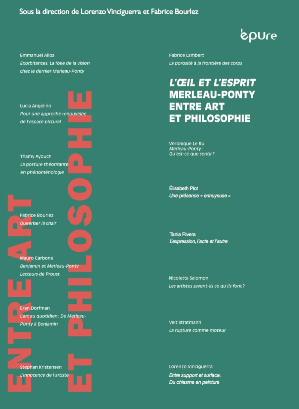 L'Œil et l'esprit : Merleau‐Ponty entre art et philosophie