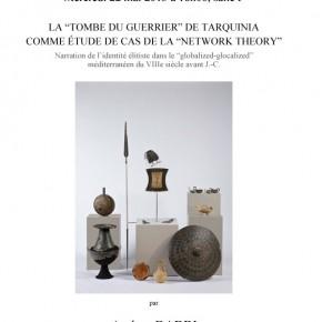 Séminaire sur la tombe du guerrier de Tarquinia comme étude de cas de la network theory